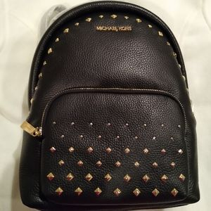 Michael Kors Erin black studded leather backpack